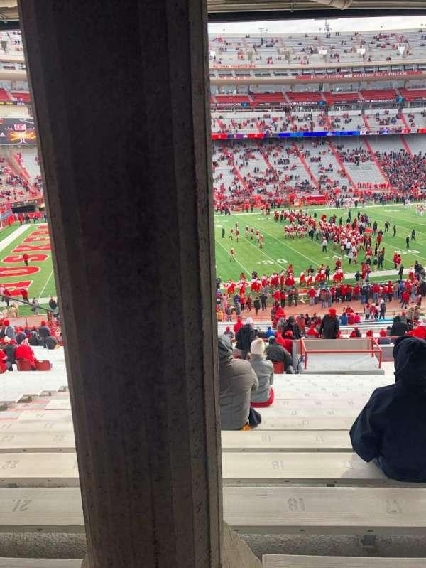 Memorial Stadium (Lincoln), secção: 29, fila: 41, lugar: 19