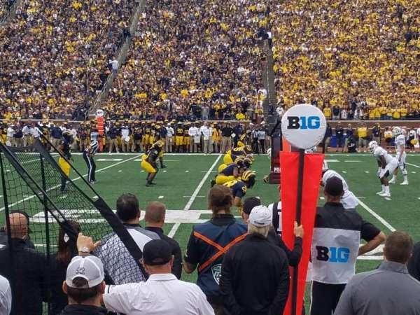 Michigan Stadium, secção: 43, fila: A, lugar: 11