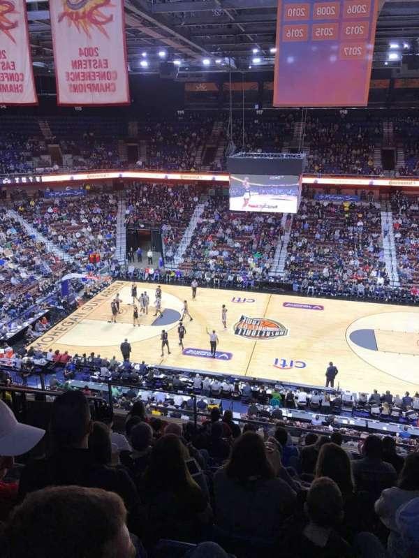 Mohegan Sun Arena, secção: 106, fila: K, lugar: 11