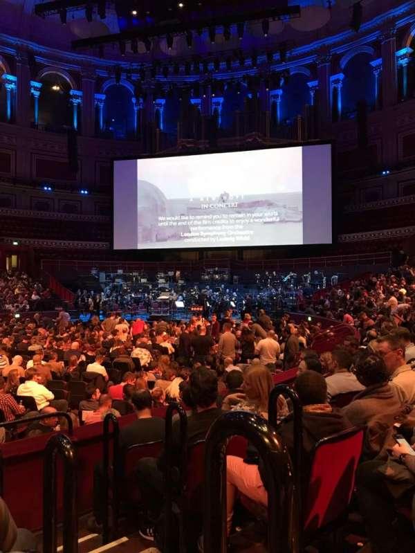 Royal Albert Hall, secção: L, fila: 5, lugar: 85