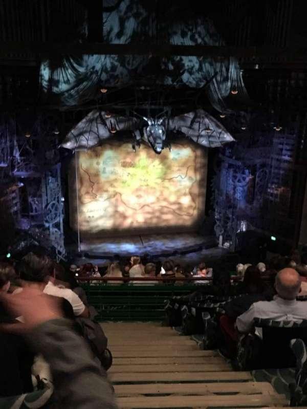 Apollo Victoria Theatre, secção: Circle, fila: O, lugar: 34