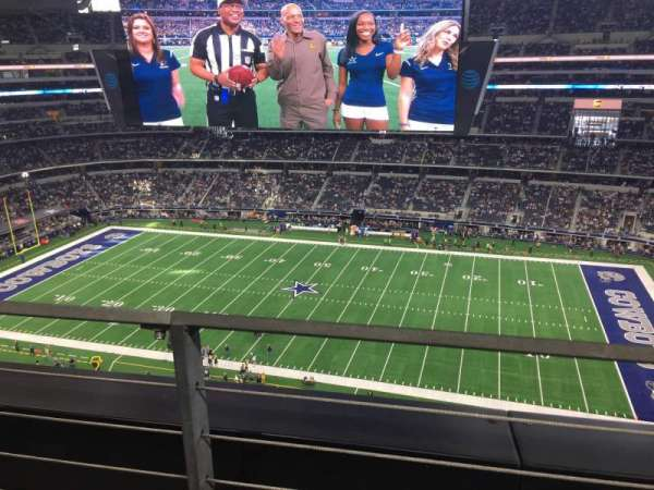 AT&T Stadium, secção: 410, fila: 1, lugar: 9