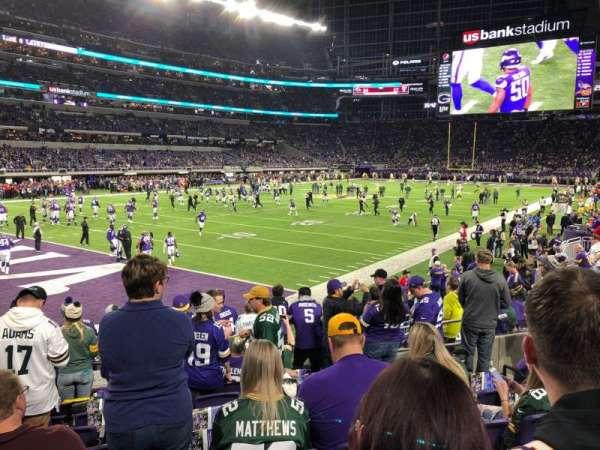U.S. Bank Stadium, secção: 114, fila: 9, lugar: 13