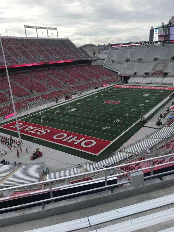Ohio Stadium, secção: 7B, fila: 4, lugar: 6