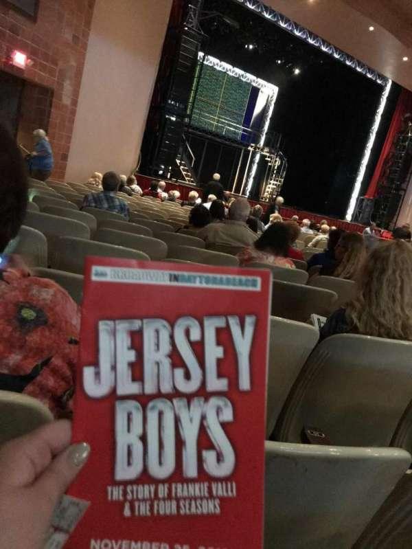 Peabody Auditorium, secção: OR1, fila: R, lugar: 11