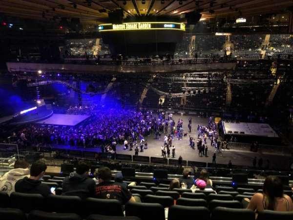 Madison Square Garden, secção: 225, fila: 8, lugar: 8