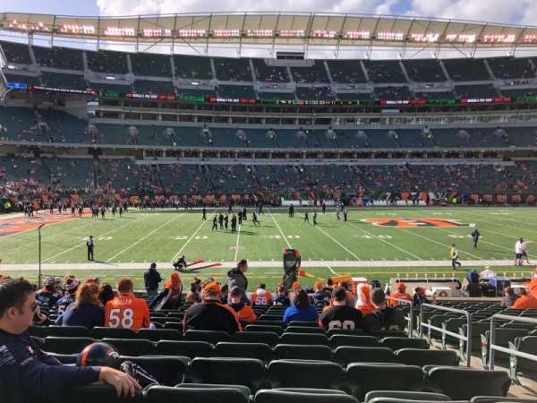 Paul Brown Stadium, secção: 141, fila: 18, lugar: 3