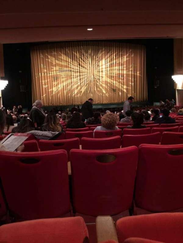 Dorothy Chandler Pavilion, secção: Orchestra, fila: ZZ, lugar: 23