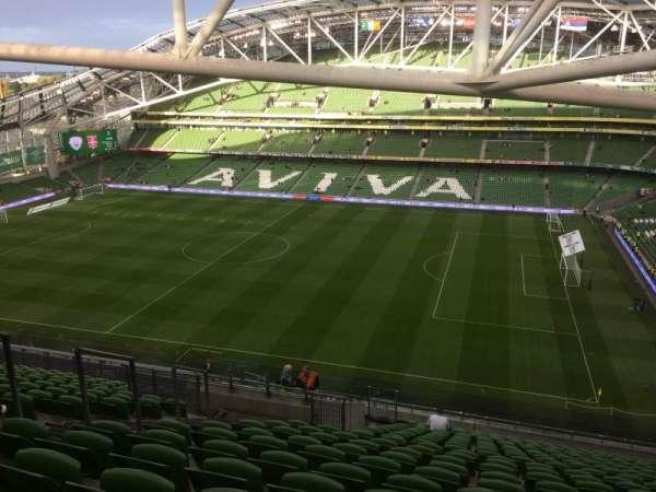 Aviva Stadium, secção: 523, fila: X, lugar: 8