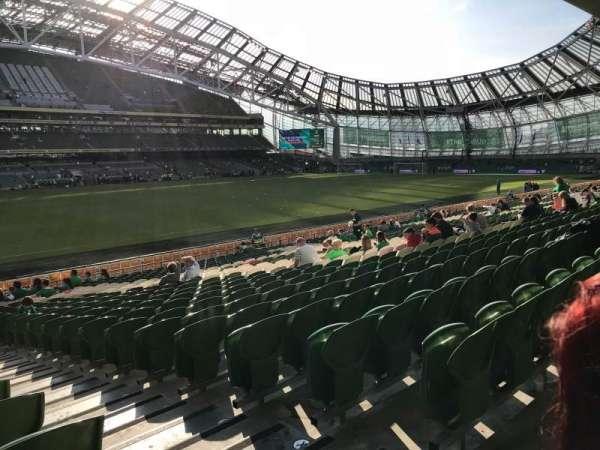 Aviva Stadium, secção: 107, fila: AA, lugar: 16