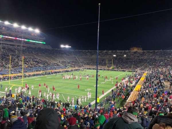 Notre Dame Stadium, secção: 16, fila: 45, lugar: 28-29