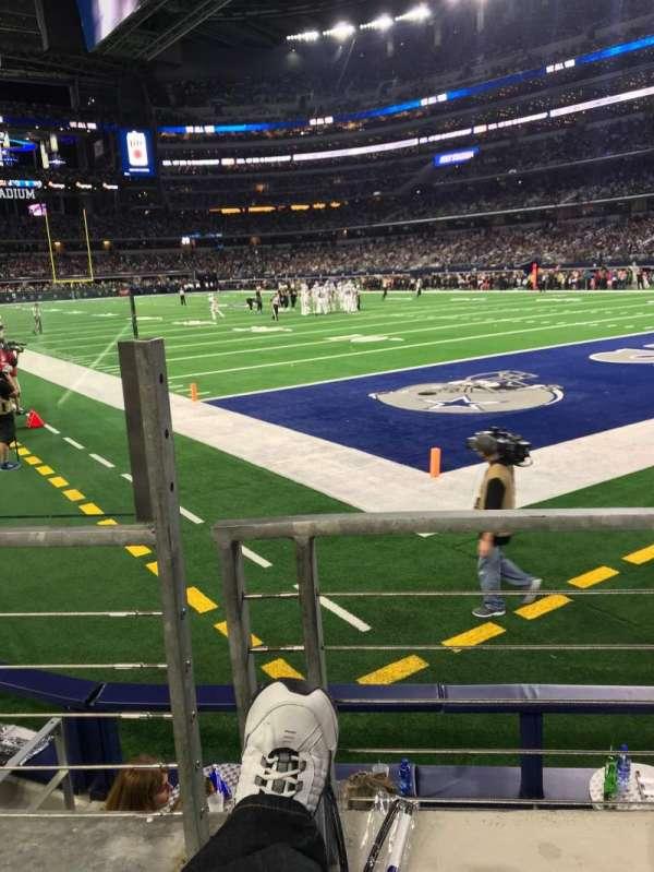 AT&T Stadium, secção: 101, fila: 1, lugar: 12