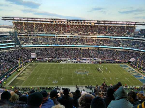 Lincoln Financial Field, secção: 244, fila: 21, lugar: 6