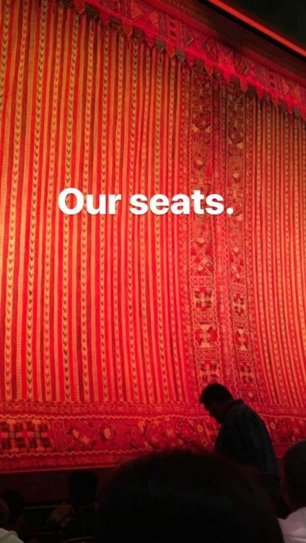 New Amsterdam Theatre, secção: Orchestra L, fila: D