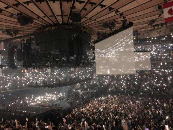 Madison Square Garden, secção: 119, fila: 22, lugar: 12