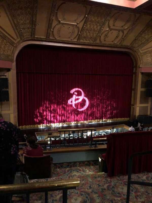 Murat Theatre at Old National Centre, secção: Balcony L, fila: K, lugar: 1