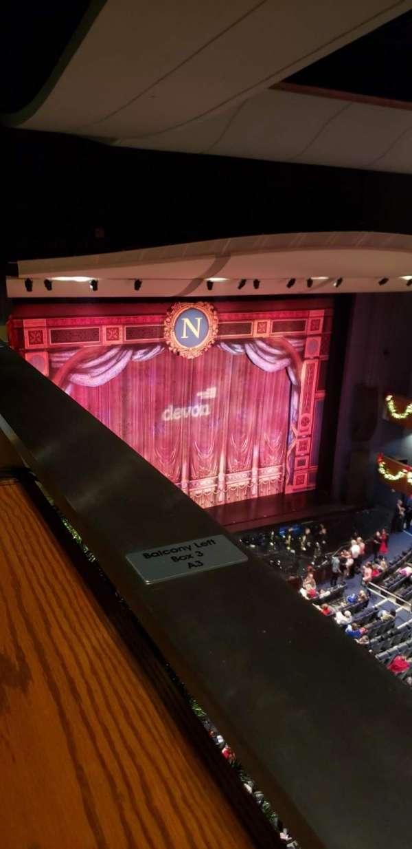 Thelma Gaylord Performing Arts Theatre, secção: Balcony Left Box 3, fila: A, lugar: 3