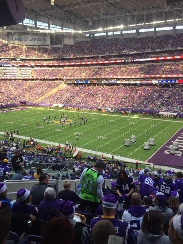 U.S. Bank Stadium, secção: 124, fila: 40W, lugar: 51