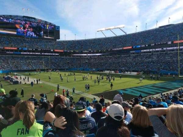 Bank of America Stadium, secção: 105, fila: 18, lugar: 15