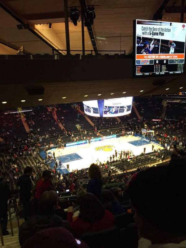 Madison Square Garden, secção: 222, fila: 18, lugar: 1