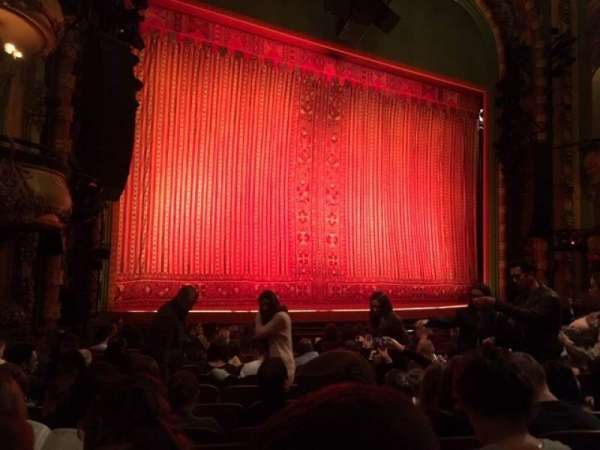 New Amsterdam Theatre, secção: Orchestra L, fila: N, lugar: 15