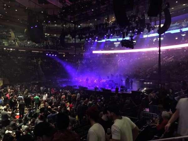 Madison Square Garden, secção: 107, fila: 5, lugar: 12
