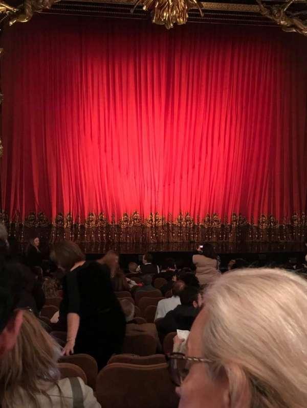 Majestic Theatre, secção: Orchestra C, fila: L, lugar: 103