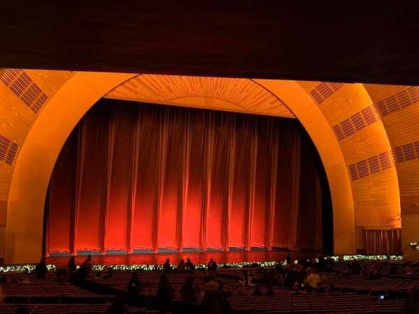 Radio City Music Hall, secção: Orchestra 6, fila: S, lugar: 609