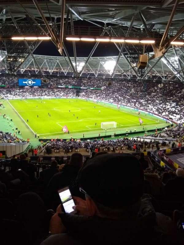 London Stadium, secção: 218, fila: 65
