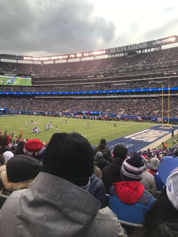 MetLife Stadium, secção: 108, fila: 31, lugar: 3