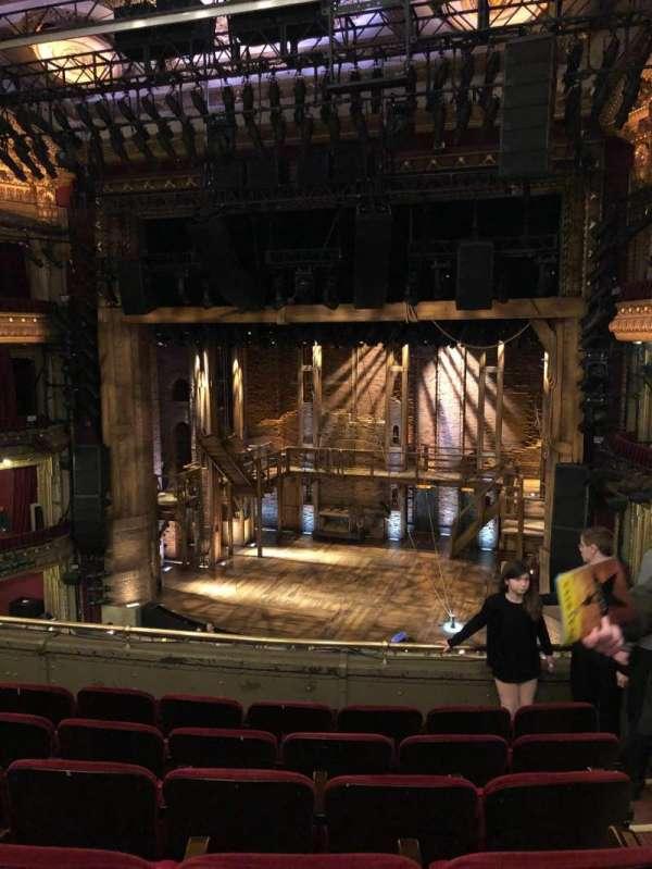 CIBC Theatre, secção: Mezzanine rc, fila: F, lugar: 322