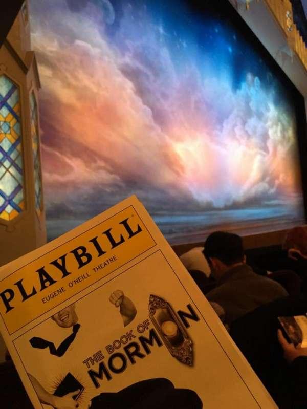 Eugene O'Neill Theatre, secção: Orchestra L, fila: E, lugar: 17