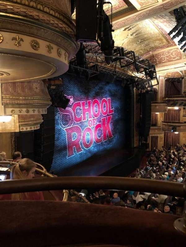 Winter Garden Theatre, secção: Left Mezzanine, fila: A, lugar: 19