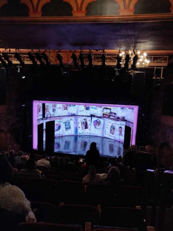 August Wilson Theatre, secção: Mezzanine C, fila: K, lugar: 101