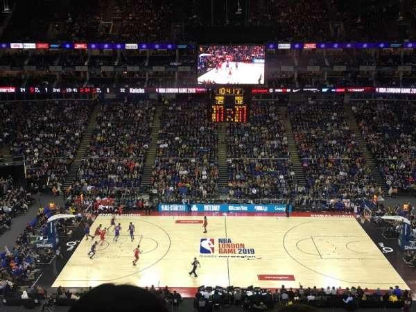 The O2 Arena, secção: 403, fila: B, lugar: 520