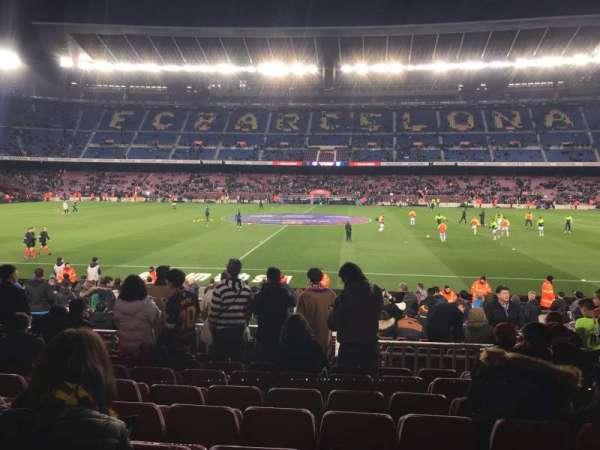 Camp Nou, secção: 134, fila: 12, lugar: 11