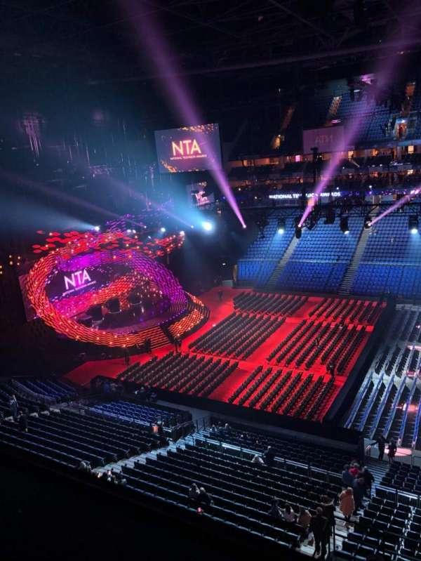 The O2 Arena, secção: 404, fila: A, lugar: 533