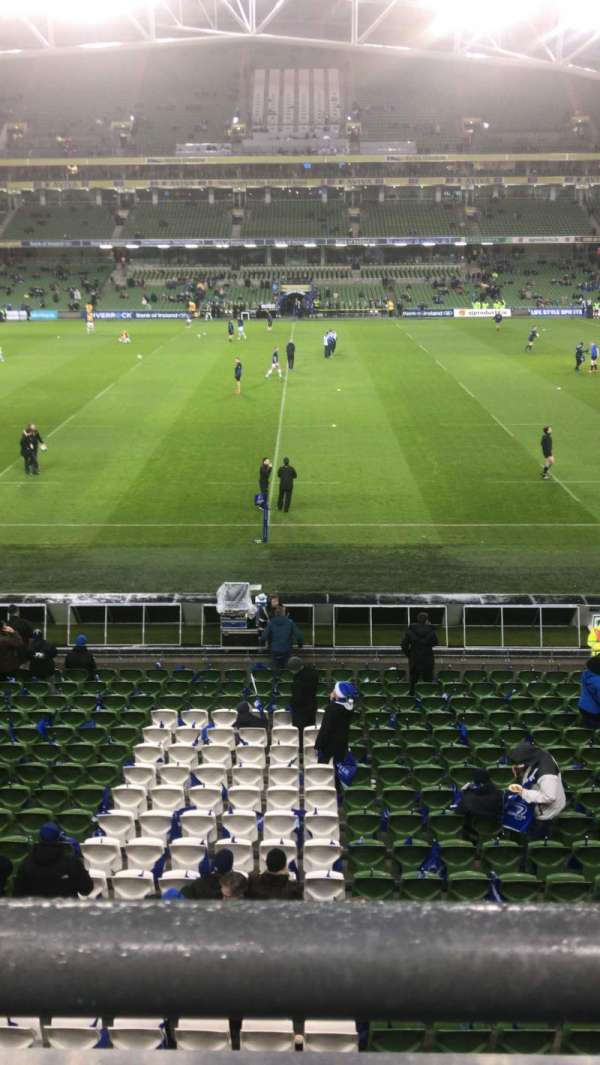 Aviva Stadium, secção: 305, fila: A, lugar: 26
