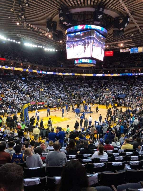 Oakland Arena, secção: 105, fila: 14, lugar: 18