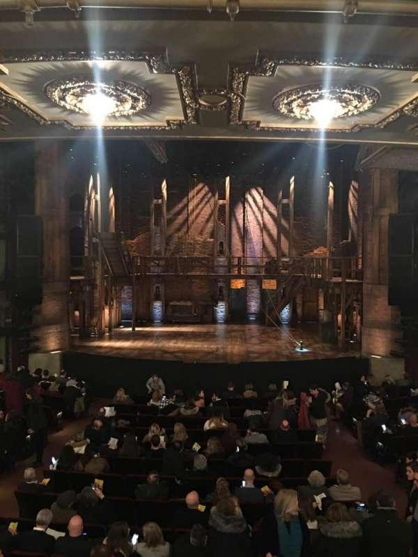 CIBC Theatre, secção: Dress circle center, fila: A, lugar: 207