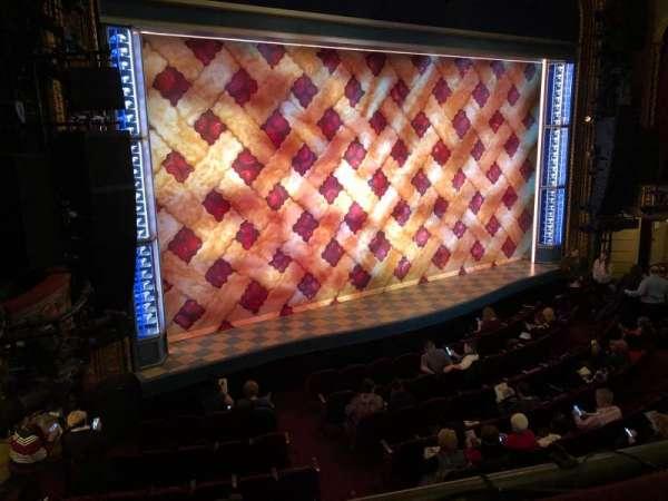 Brooks Atkinson Theatre, secção: Front Mezzanine, fila: A, lugar: 15