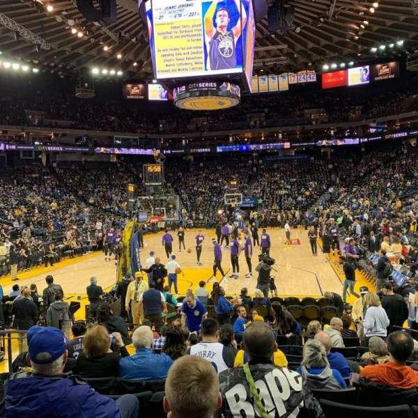 Oakland Arena, secção: 107, fila: 7, lugar: 10