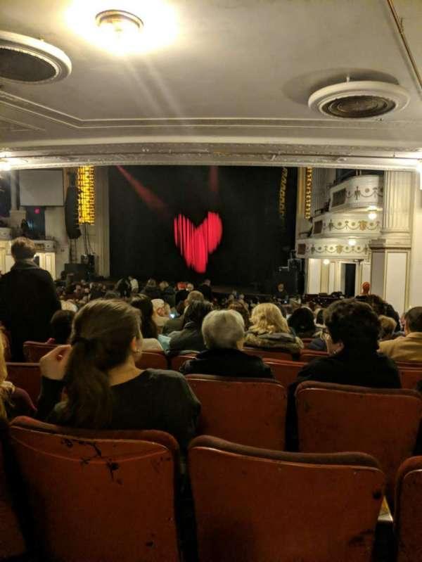 Orpheum Theatre (Boston), secção: Orchestra R, fila: O, lugar: 12