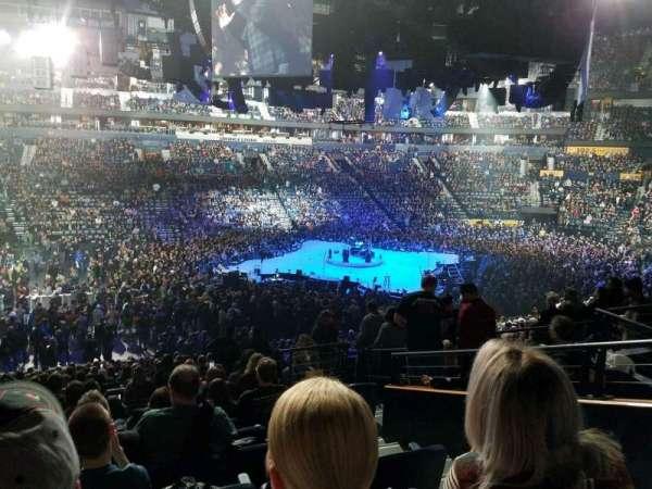 Bridgestone Arena, secção: 114, fila: n, lugar: 3
