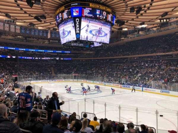 Madison Square Garden, secção: 120, fila: 12, lugar: 10