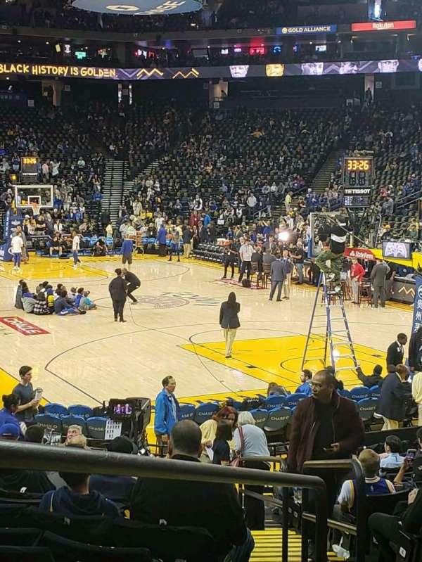 Oakland Arena, secção: 109, fila: 13, lugar: 5-7