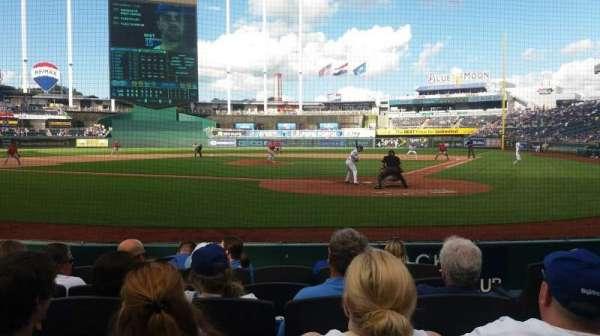 Kauffman Stadium, secção: 126, fila: A