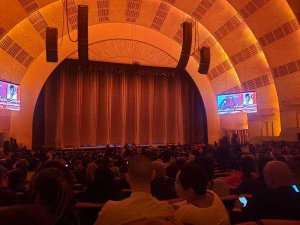 Radio City Music Hall, secção: Orchestra 5, fila: G, lugar: 509