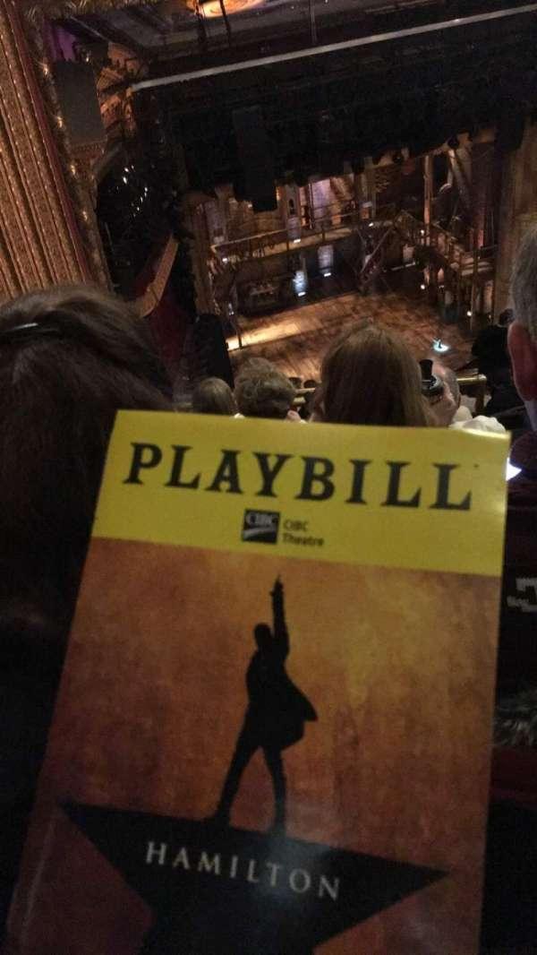 CIBC Theatre, secção: BALC-R, fila: M, lugar: 5