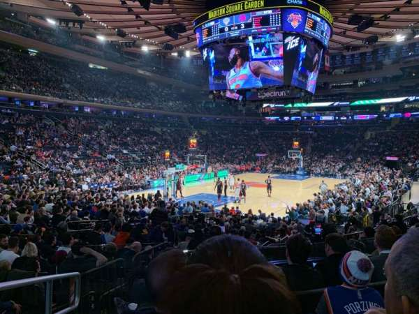 Madison Square Garden, secção: 114, fila: 10, lugar: 1